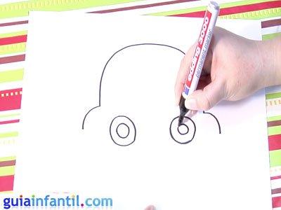 Dibujo de un coche. Paso 2.
