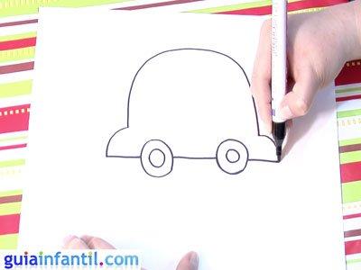 Dibujo de un coche. Paso 3.