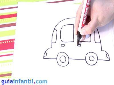 Dibujo de un coche. Paso 4.