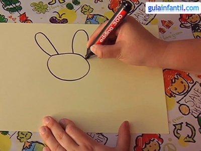 Aprende a dibujar un conejo. Paso 1.