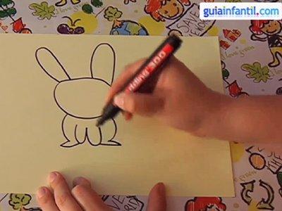 Aprende a dibujar un conejo. Paso 2.