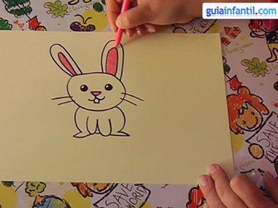 Aprende a dibujar un conejo. Paso 4.