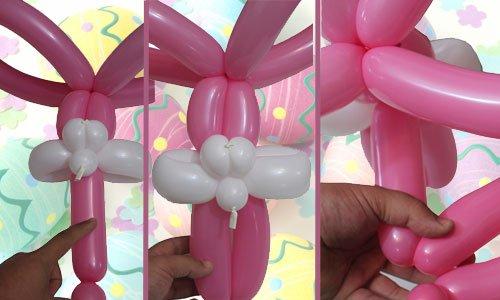 Conejo de Pascua con globos. Paso 4