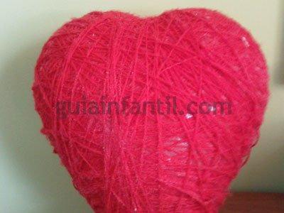 Corazón de lana. Paso 4.