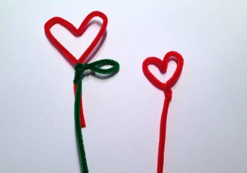 Maceta con flor de corazón. Paso 2