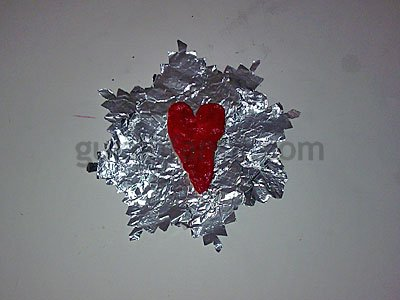 Corazón de pasta de sal. Paso 5