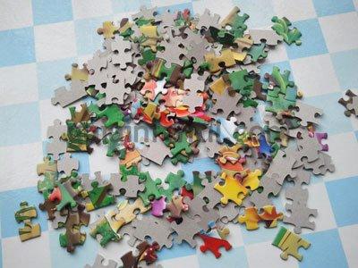 Corazón con piezas de puzzle. Paso 1