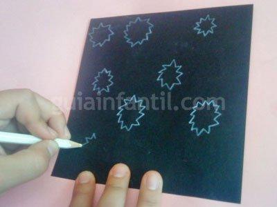 Cómo hacer una corona de papel o cartulina. Paso 3