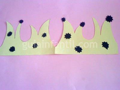 Cómo hacer una corona de papel o cartulina. Paso 5