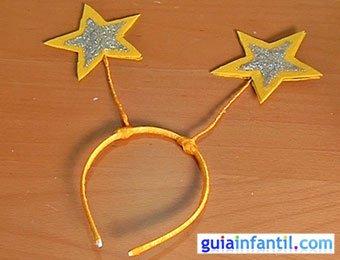 Diadema de hada con estrellas
