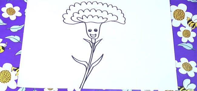 Dibujo de un clavel.