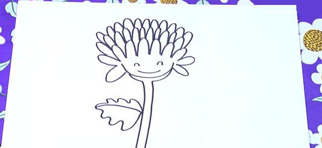 Cómo hacer, paso a paso, un dibujo de un crisantemo