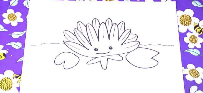 Dibujo de un nenúfar.