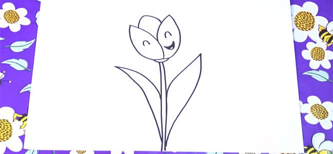 Dibujo de un tulipán.