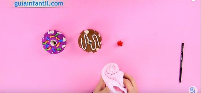 Donuts con calcetines. Paso 4