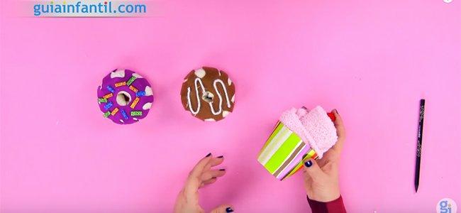 Donuts con calcetines. Paso 5