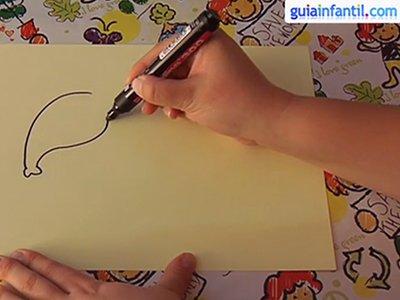 Dibujar un elefante. Paso 1.