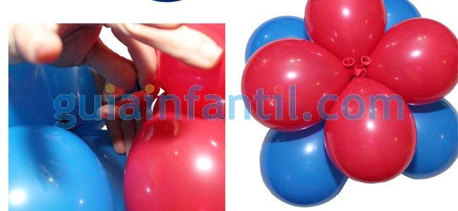 Elefante con globos. Paso 1
