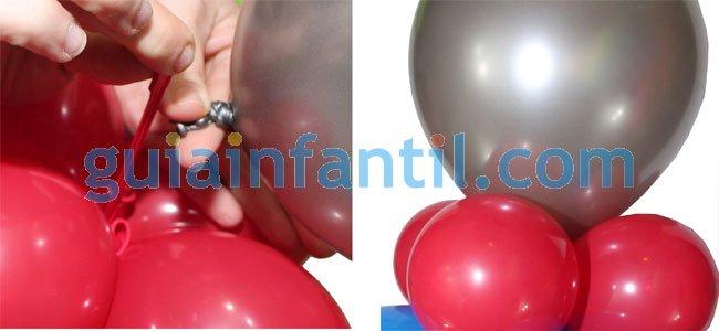 Elefante con globos. Paso 2