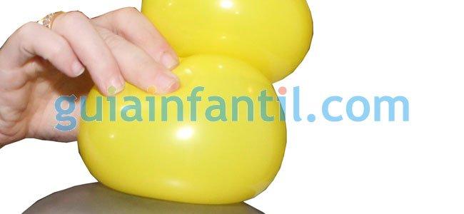 Elefante con globos. Paso 3