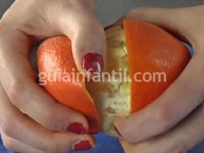 Vela de aceite con naranja. Paso 2