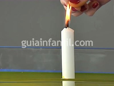 La vela que sube con el agua. Paso 2