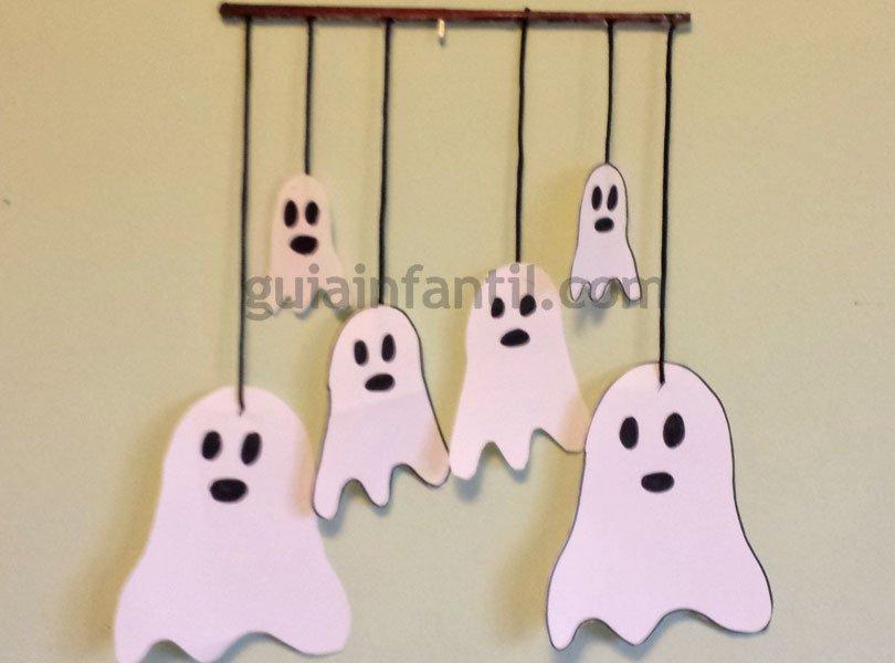 Móvil De Fantasmas Para Halloween Manualidades