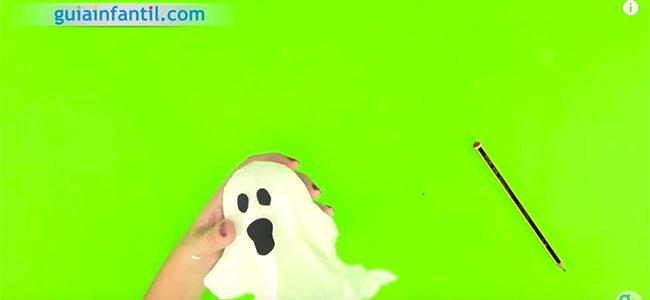 Fantasma de Halloween. Paso 4