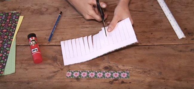 Farolillo de origami. Paso 2