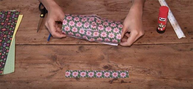 Farolillo de origami. Paso 3