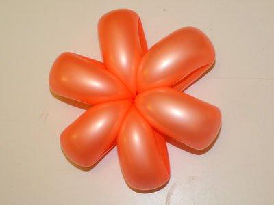 Flor con globos. Paso 5