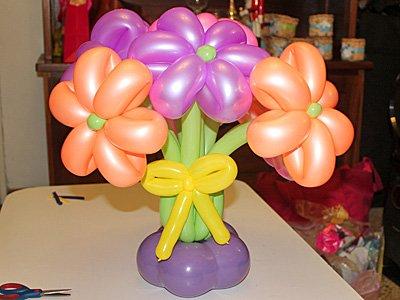Flor con globos. Paso 7