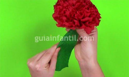 Cómo hacer flores con papel. Paso 5