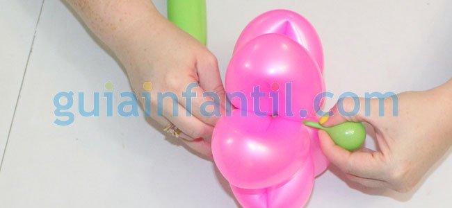 Flor con globos. Paso 6