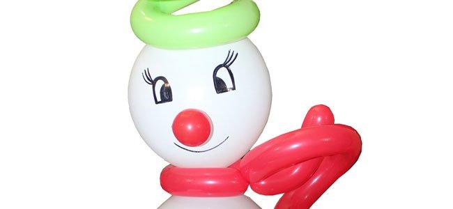 Muñeco de nieve con globos. Paso 8