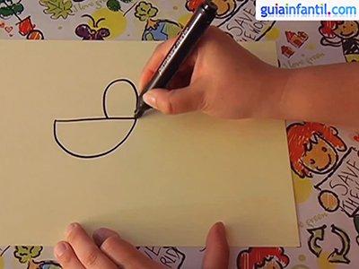 Aprende a dibujar un gallo. Paso 1.