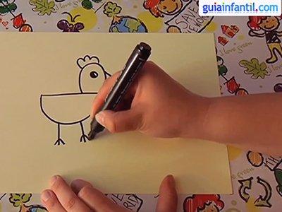 Aprende a dibujar un gallo. Paso 2.