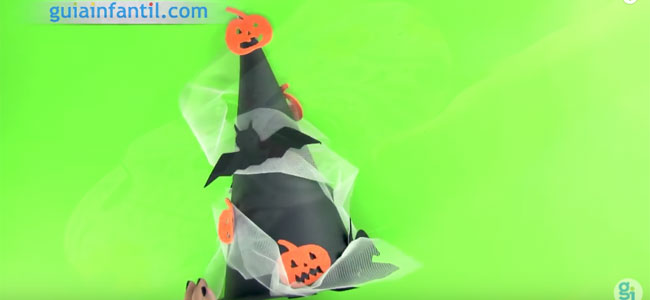 Gorro de bruja para Halloween