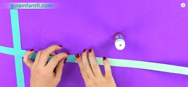 Guirnalda de origami. Paso 1