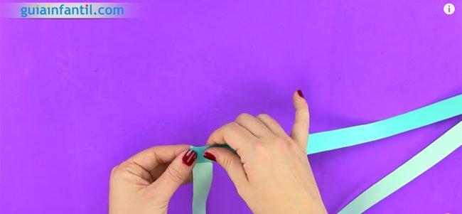 Guirnalda de origami. Paso 2