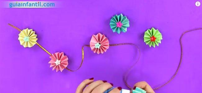 Guirnalda de origami. Paso 5