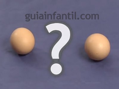 Diferenciar un huevo crudo de uno cocido. Paso 2
