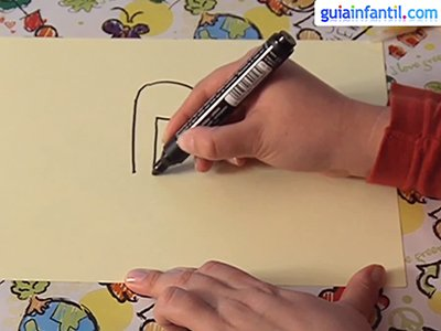 Dibujar una jirafa. Paso 1.