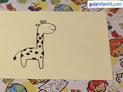 Dibujar una jirafa. Paso 4.