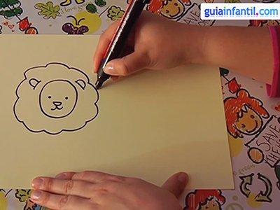 Dibujar un león. Paso 2.