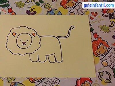Dibujar un león. Paso 4.