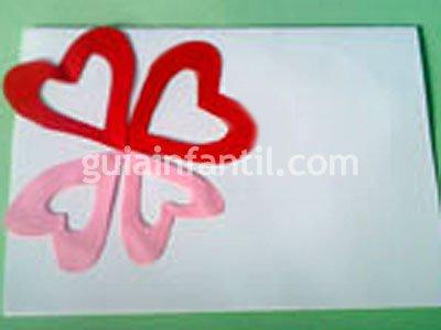 Tarjeta de San Valentín. Paso 3