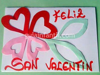 Tarjeta de San Valentín. Paso 5
