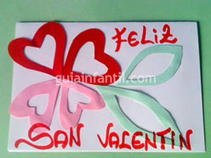 Tarjeta de San Valentín. Manualidades para niños
