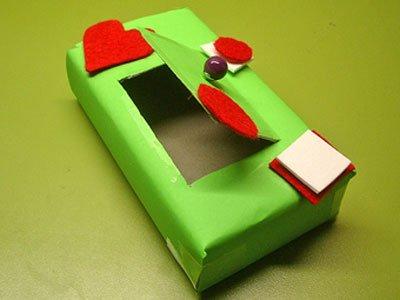 Caja decorada con cartulina y fieltro manualidad de reciclaje - Cajas infantiles decoradas ...